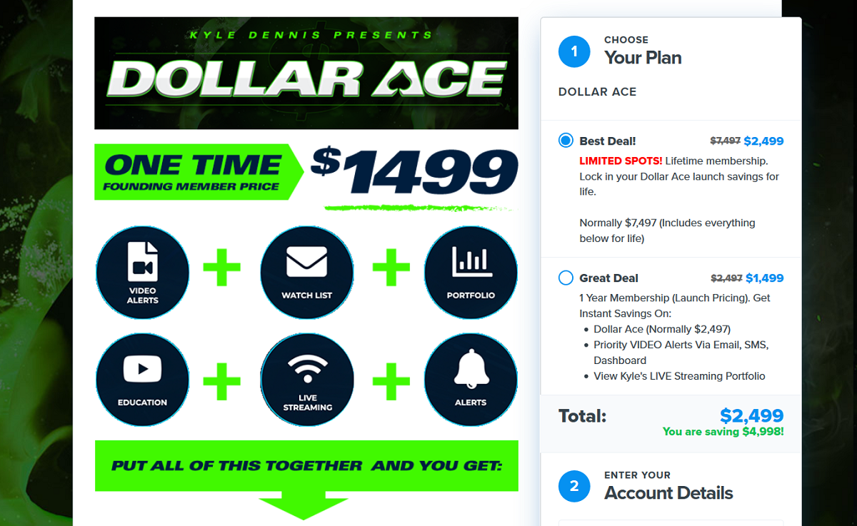 Kyle Dennis Dollar Ace Service 2020 Update [Latest Trades and Results]